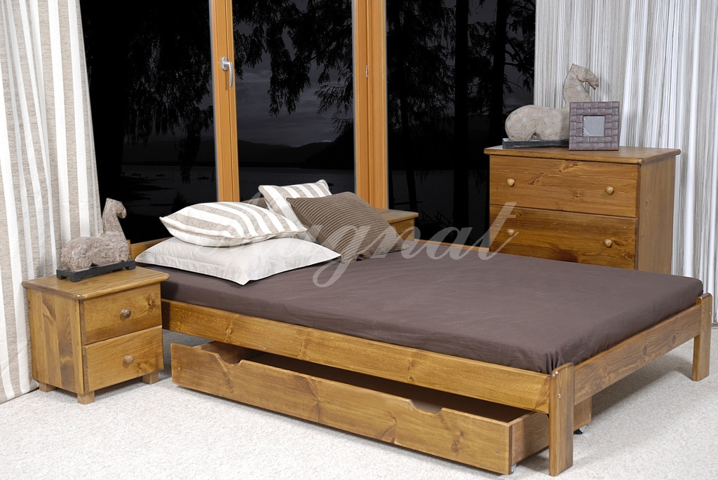 New pine ikea size small double bed under bed drawer wooden walnut oak
